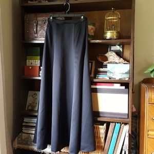 Hugo buscati vintage satin formal maxi skirt